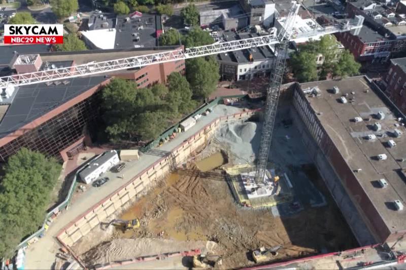 NBC29 Skycam: CODE Construction Site, 10/09/2019