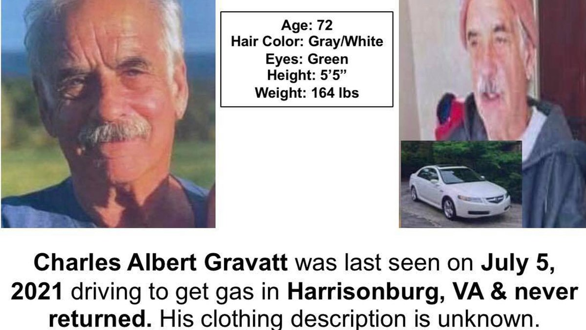 Gravatt was last seen on July 5 when he left to get gas and never returned.