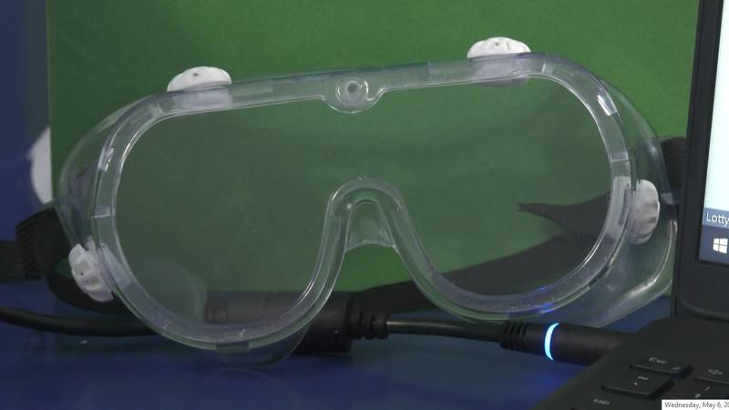 Safety goggles.