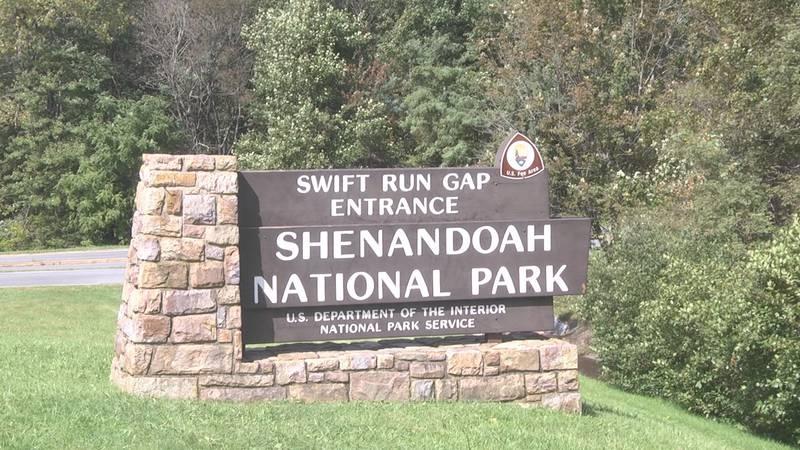 Shenandoah National Park Swift Run Gap entrance.
