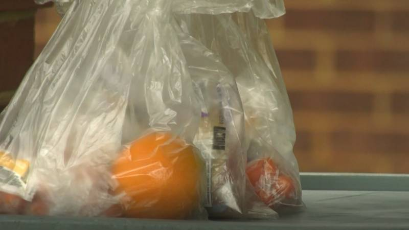 A bag lunch available at locations around Albemarle County during the coronavirus closure.