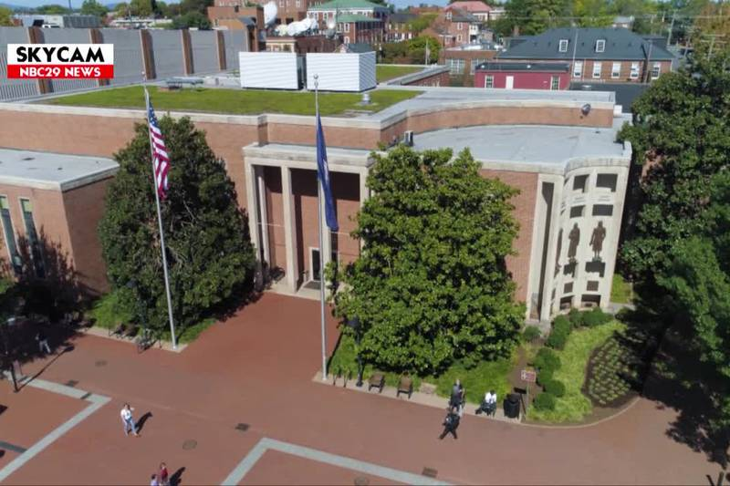 NBC29 Skycam: Charlottesville City Hall.