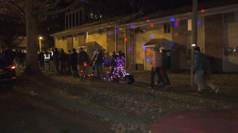 "Dozens walked through downtown Charlottesville as part of ""Unsilent Night"""