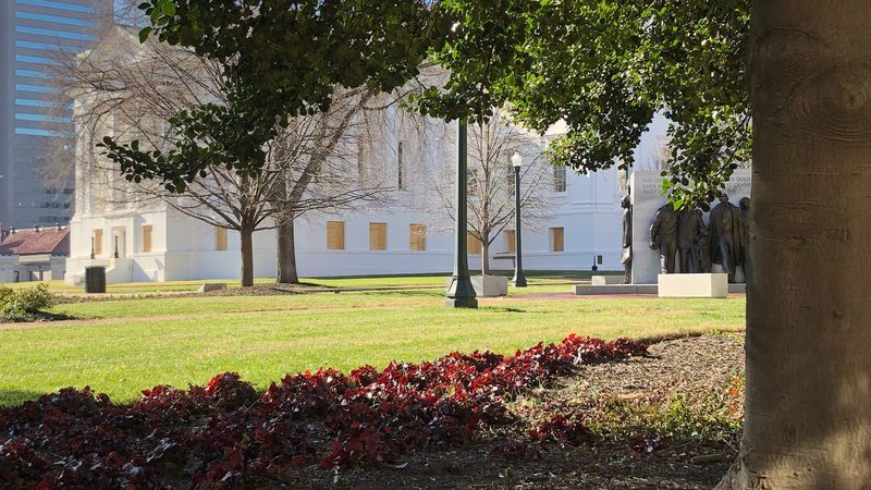 Thursday, protective measures began going up around the Virginia State Capitol complex.