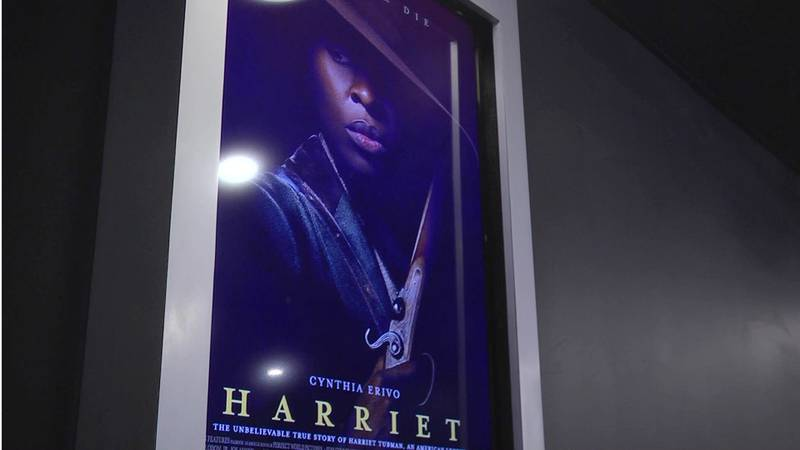 """A poster for the movie """"Harriet"""" playing in Charlottesville."""