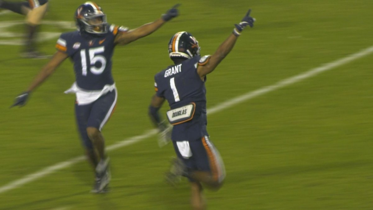 Nick Grant celebrates his forced fumble in the 4th quarter.