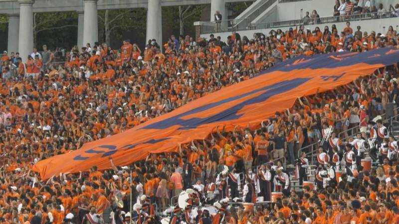 The 4th Side was allowed back inside Scott Stadium for the first time since 2019.