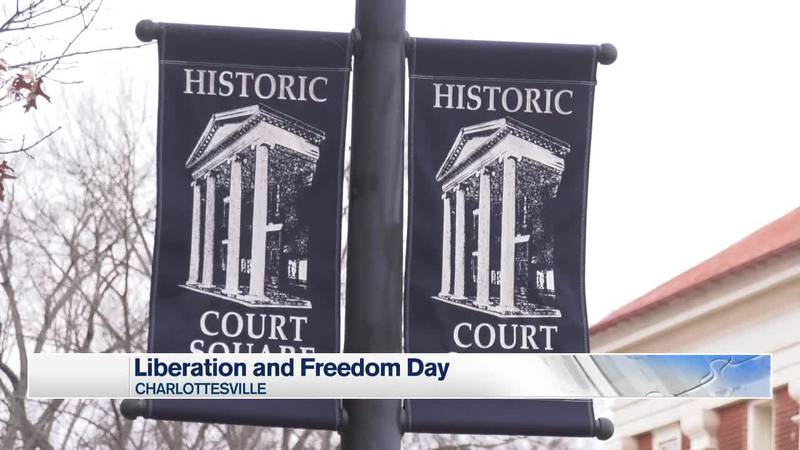 Banners for Charlottesville's Court Square