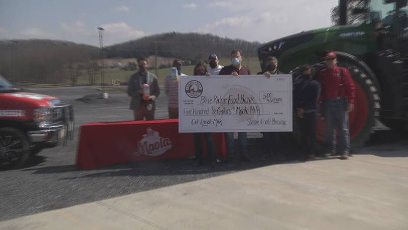 Stable craft brewery gifting 500 half gallons of milk to Blue Ridge Area Food Bank