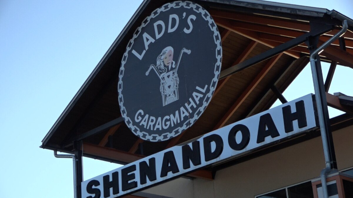 Proposed signage for Ladd's Garagmahal, the business the property owner hopes to replace the...