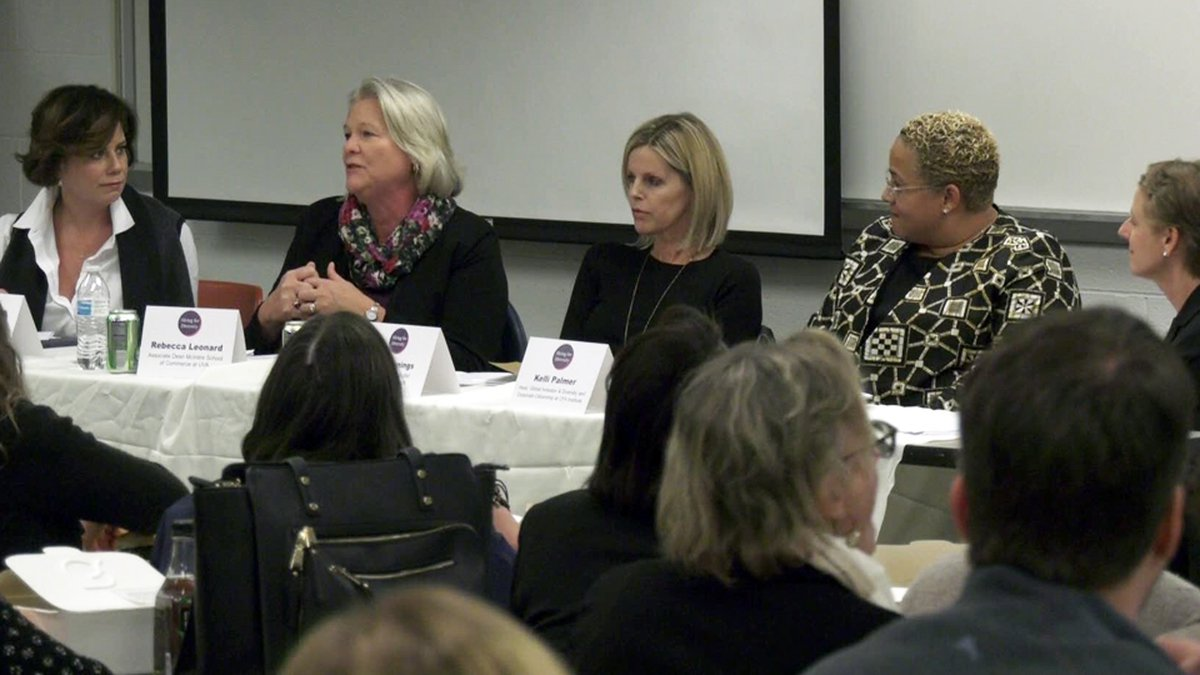 Charlottesville Women in Tech hosted a discussion with four professionals from central Virginia...