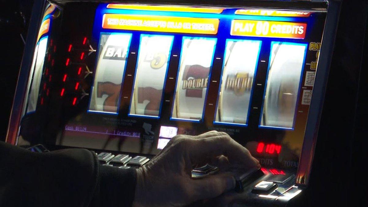 FILE. Gambling at a casino slot machine.