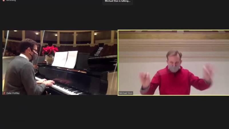 UVA virtual messiah sing in