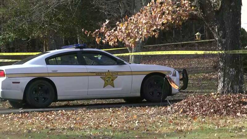 Authorities on the scene of a fatal home invasion in Louisa County.