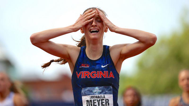 UVA grad student Michaela Meyer won the 800m race at the NCAA Champinships. (Photo by Jamie...