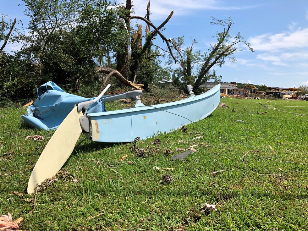 catamaran ripped into pieces during the storm