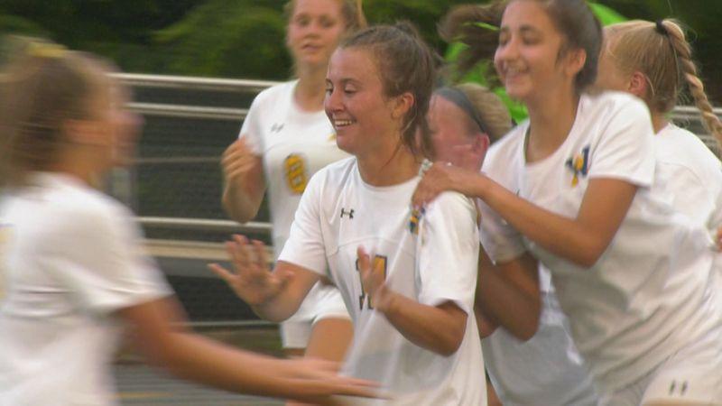 The WAHS girls soccer team beat Fort Defiance 5-0.