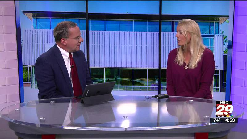 Steve talks with Jessica Maslaney, the CEO of the Piedmont Family YMCA.