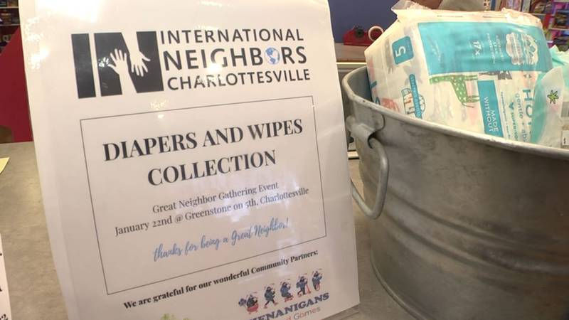 Diaper and wipes collection to help International Neighbors