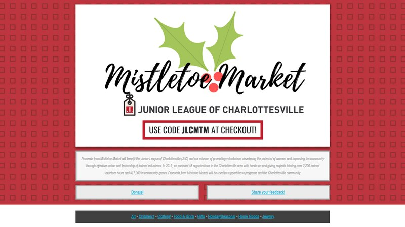 The annual holiday market, benefiting the Junior League of Charlottesville, goes virtual this...
