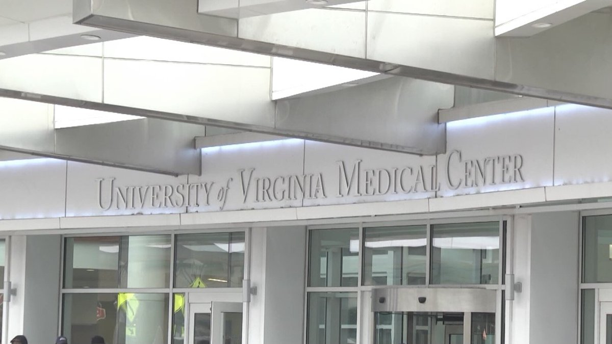 The front of the UVA Medical Center