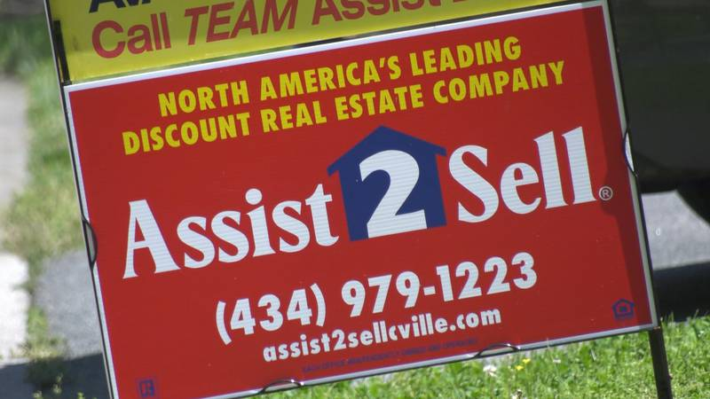 A sign in front of a house for sale in Albemarle County.