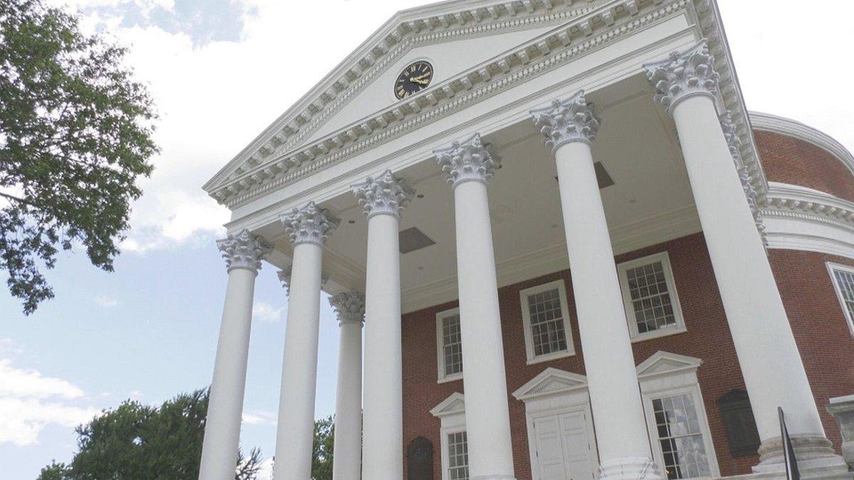 The University of Virginia Rotunda in Charlottesville