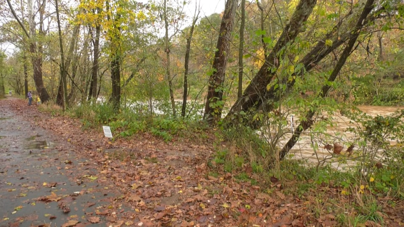 Rivanna River near Riverview Park.  A path could soon allow bikers and pedestrians to cross...