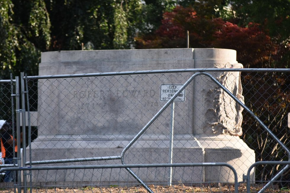 Pedestal  for the Lee statue in Charlottesville.