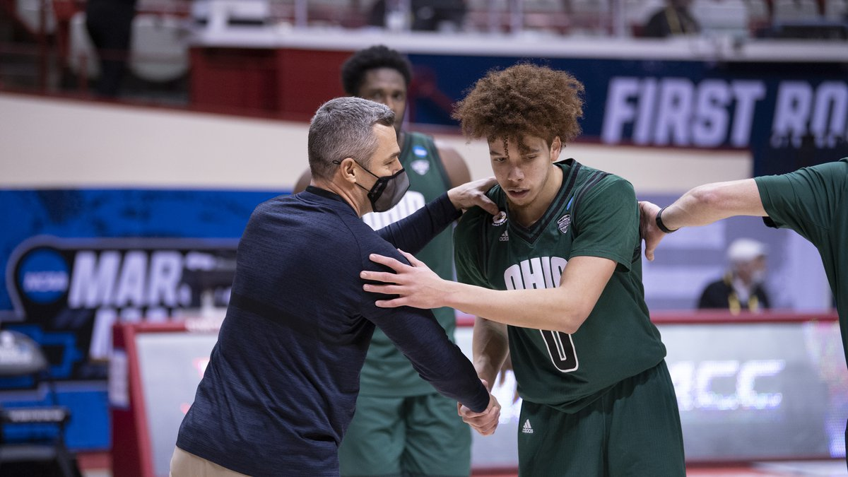 BLOOMINGTON, IN - MARCH 20: The Ohio Bobcats take on the Virginia Cavaliers the first round of...