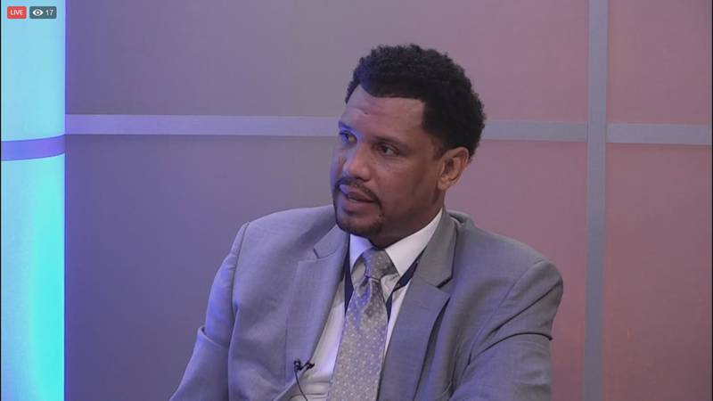 Charlottesville city manager Tarron Richardson discusses his first year on the job during an...