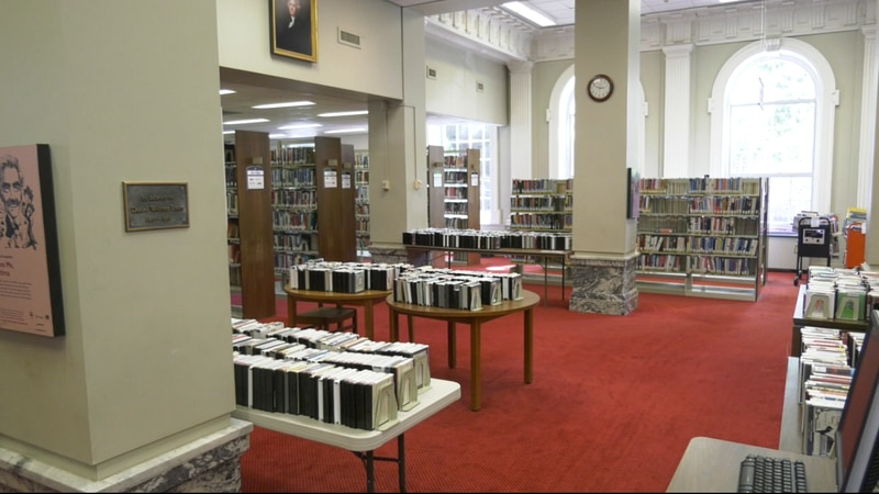 The interior of the Jefferson Madison Regional Library's downtown Charlottesville location.