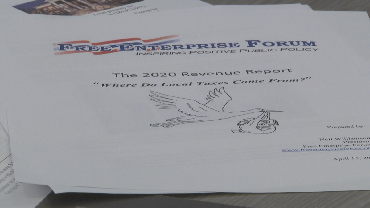 "Coronavirus caused what the Free Enterprise Forum describes as a ""precipitous drop"" in tax..."