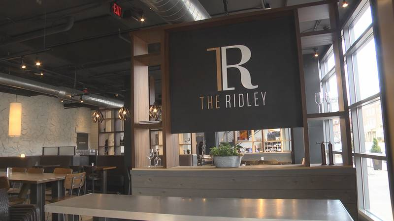 The Ridley restaurant located in the Draftsman Hotel