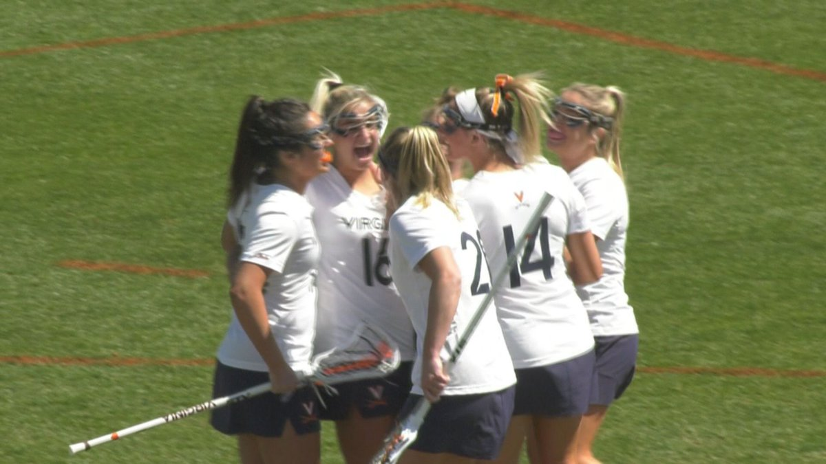 The UVA women's lacrosse team trailed by as many as six goals in the 2nd half.