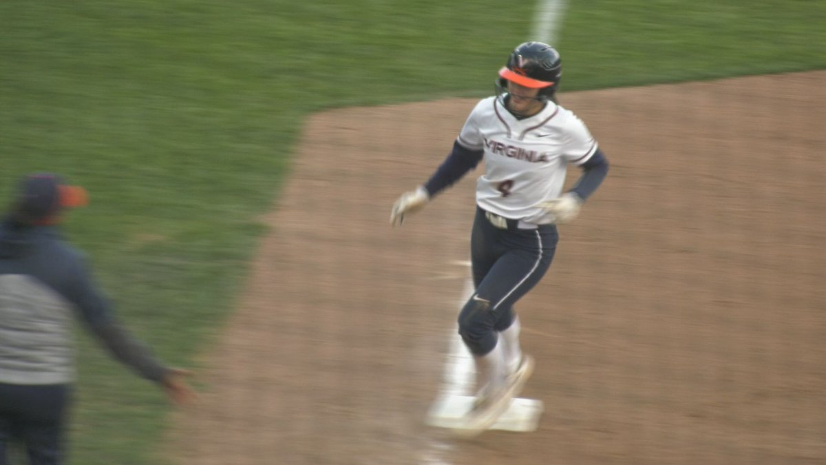 Tori Gilbert circles the bases following her home run in the 4th inning