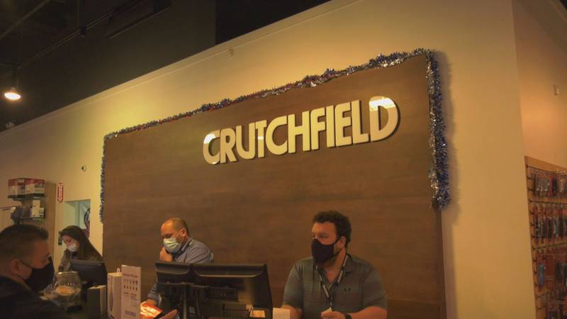 Crutchfield electronics retail store