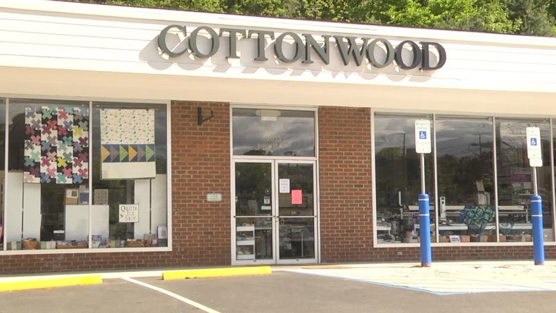 Cottonwood fabric store in Charlottesville