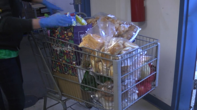 Groceries at Loaves and Fishes in Charlottesville