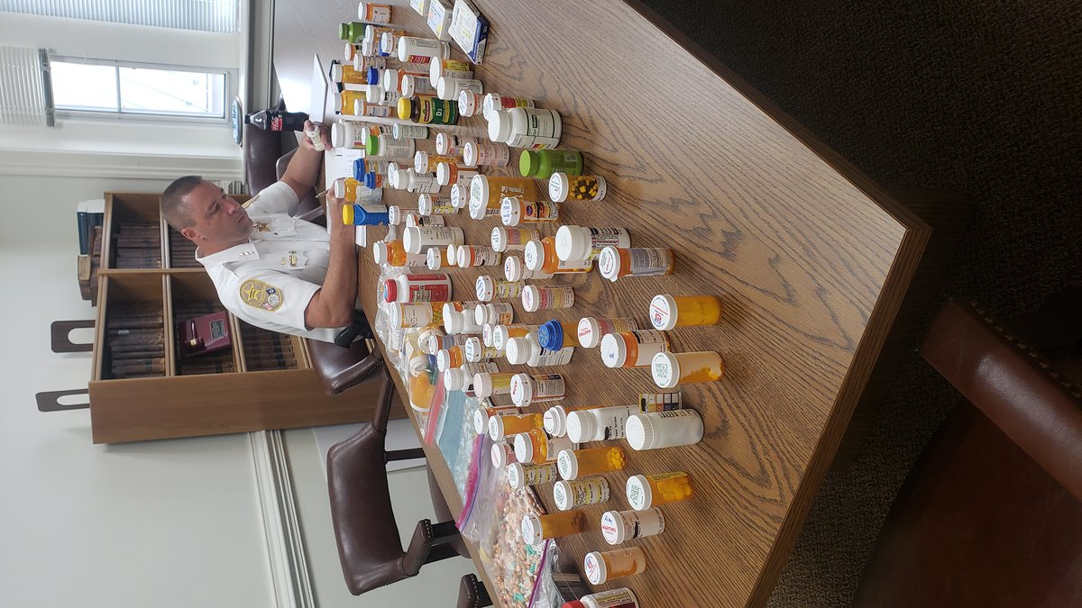 The sheriff says they have collected nearly 7,000 pills.