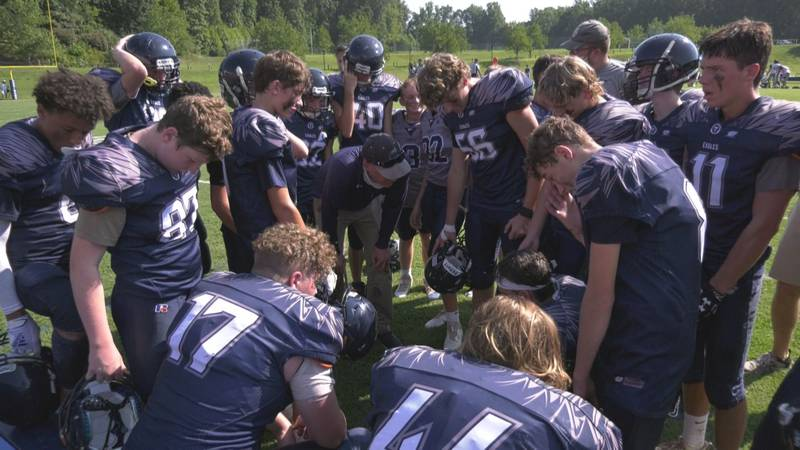 The Covenant football team had its game called at halftime due to a rising heat index.