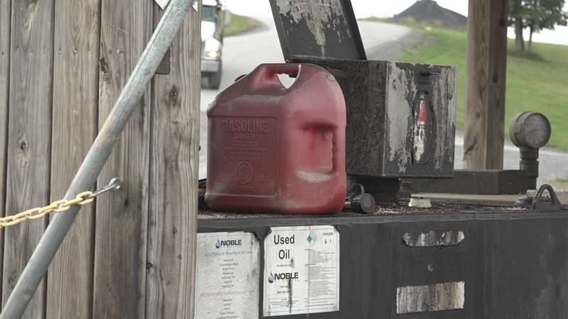 Gasoline at the landfill