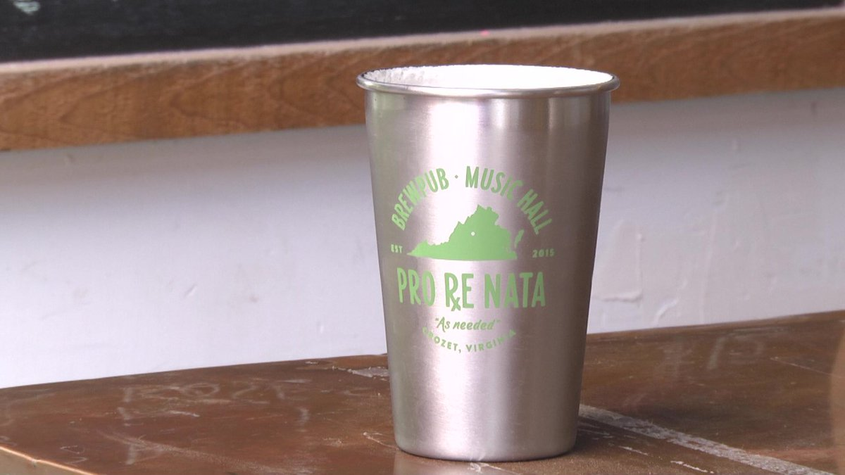 Eight different signature stainless steel cups will be available for purchase.