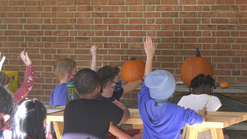 An elementary school in Charlottesville is getting creative with outdoor learning.