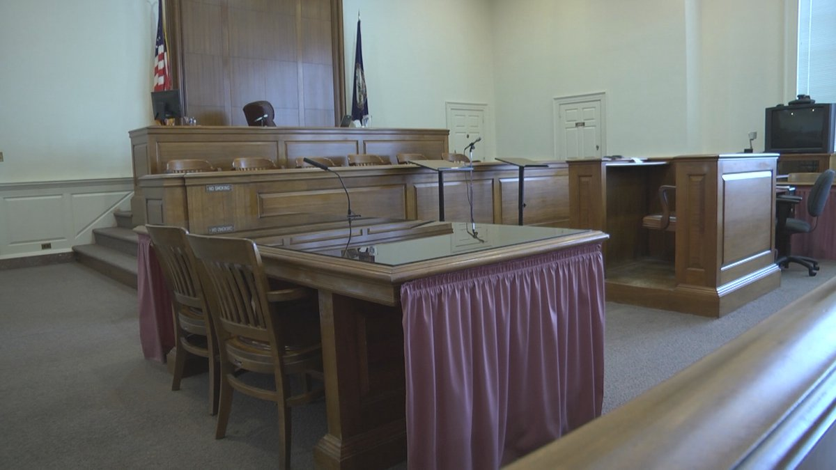 A courtroom.