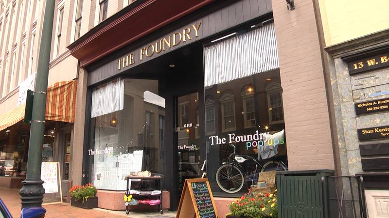 The Foundry in downtown Staunton is a collection of pop-up shops.