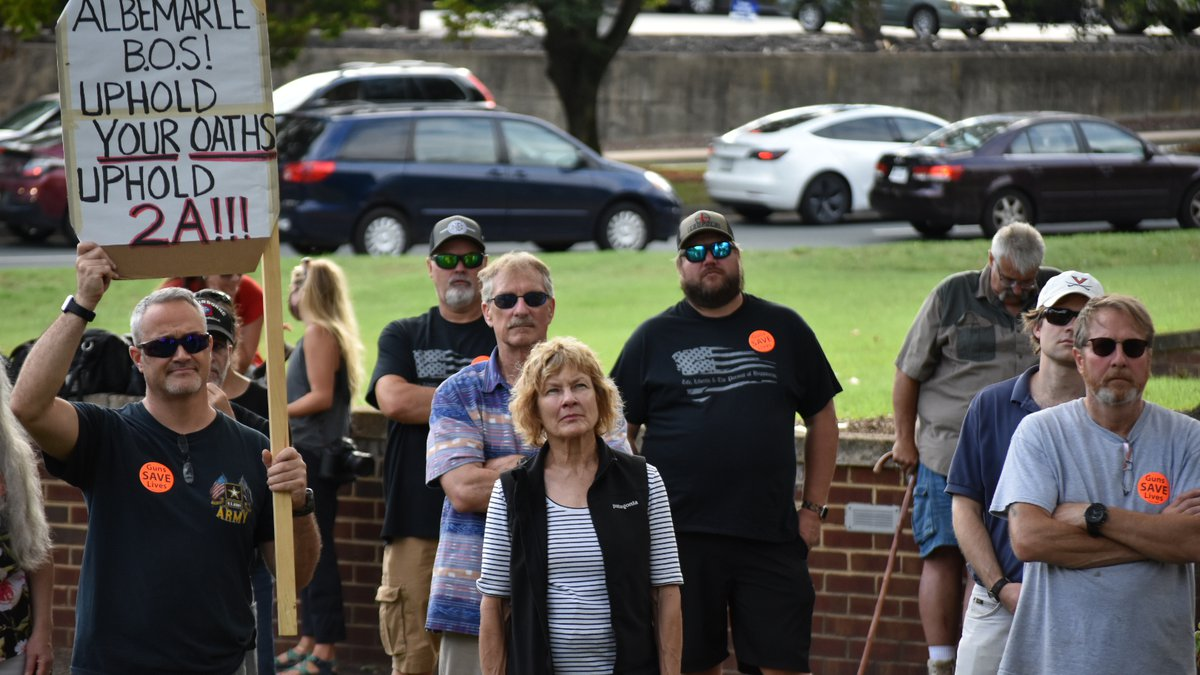 2nd Amendment Rally in front of the Albemarle County Office Building on August 18, 2021