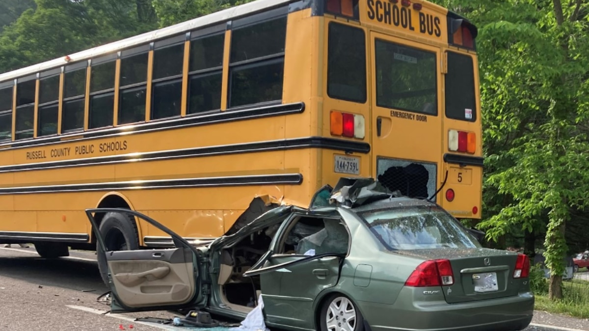 Virginia State Police are investigating after a vehicle rammed into the back of a bus that had...