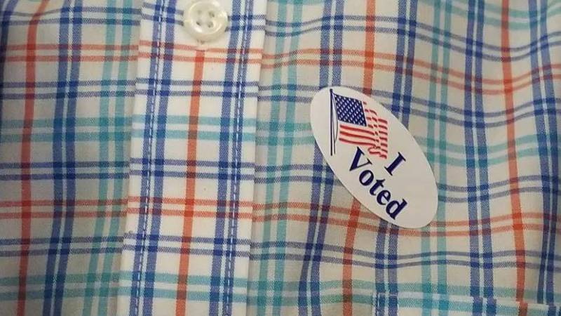 """""""I voted"""" sticker from 2019."""