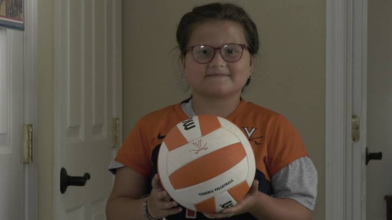 Aida Aleshire is graduating form the UVA Volleyball program at the age of 10